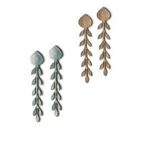 OLIVES Leather earrings